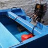 SURVIVOR – MOTOR WELL – MASSIVE SAFETY FEATURE AS  BOAT RESISTS SWAMPING