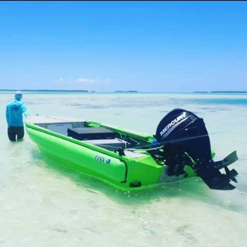 Shallow Flats Saltwater Fly Fishing Skiff